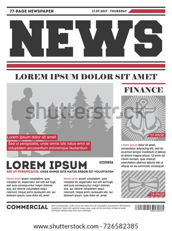 Daily news tabloid vector template typography stock vector for Daily design news