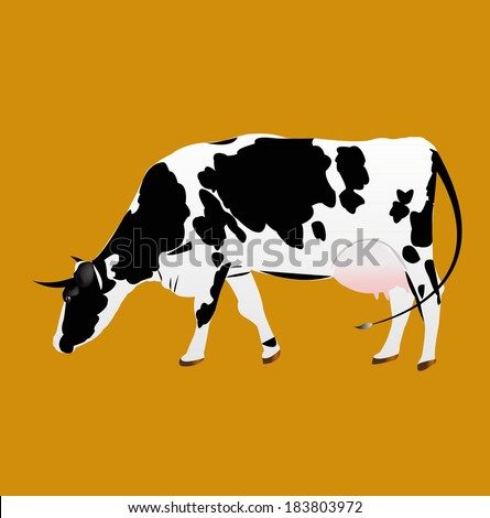 Dairy Cow. - stock vector
