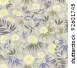 Daisy Themed Repeating Pattern - stock vector