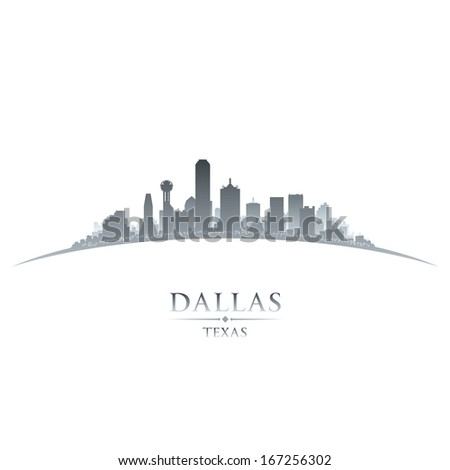 Dallas Texas city skyline silhouette. Vector illustration - stock vector
