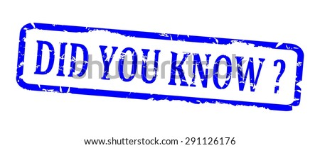 Damaged blue oval stamp with the words - did you know - vector - stock vector