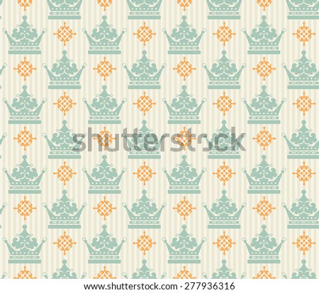 Damask Baroque Background. Wallpaper Background For Your Design. Decorating Books, Postcards, Wallpaper, Wall, Web design. Color Illustration. Vector Art. - stock vector
