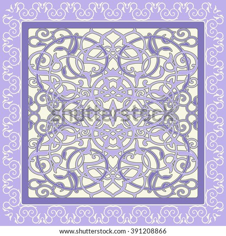 Damask beautiful background with rich, old style, luxury ornamentation, seamless pattern, royal vector wallpaper, floral wrapping paper, swatch fabric for decoration and design. Vector illustration - stock vector