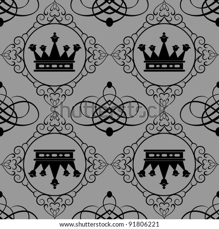 damask decorative wallpaper for walls vintage seamless patterns abstract background  - stock vector