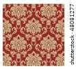 Damask Fabric - stock vector