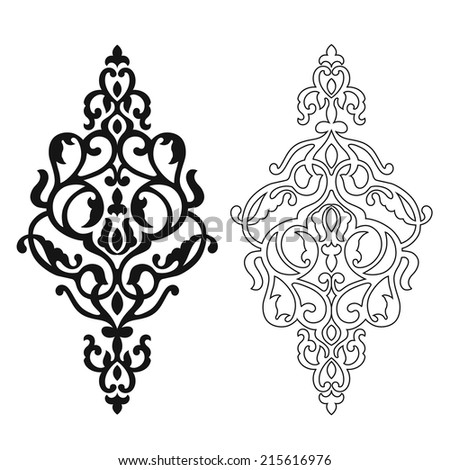 traditional ottoman motifs vector illustration stock vector 91315457 shutterstock. Black Bedroom Furniture Sets. Home Design Ideas