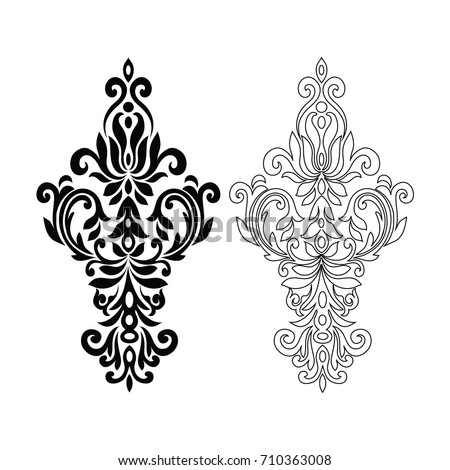 Damask Graphic Element Vector