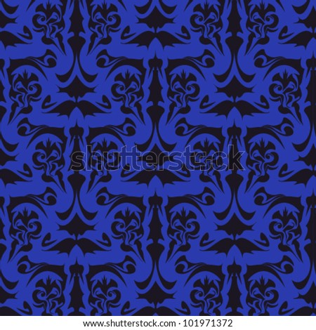 damask pattern - stock vector