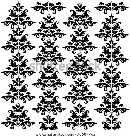 Damask pattern 2 - stock vector