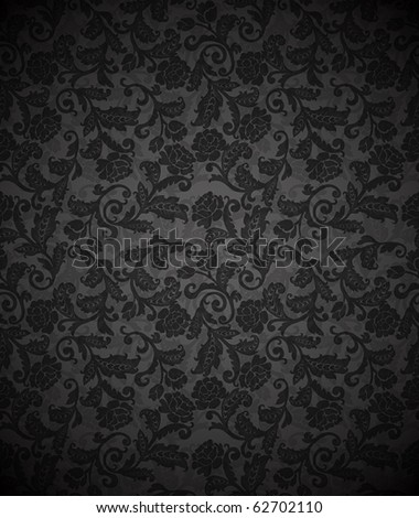 Damask seamless floral background pattern. Vector illustration. - stock vector