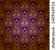 Damask seamless floral pattern. Royal wallpaper. Flowers and crowns on a purple background. EPS 10 - stock photo