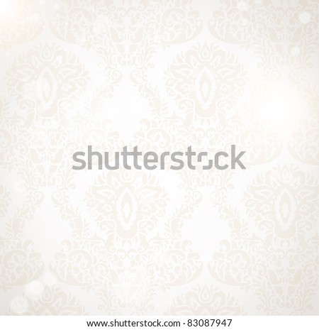 Damask seamless floral pattern. Vintage vector illustration. - stock vector