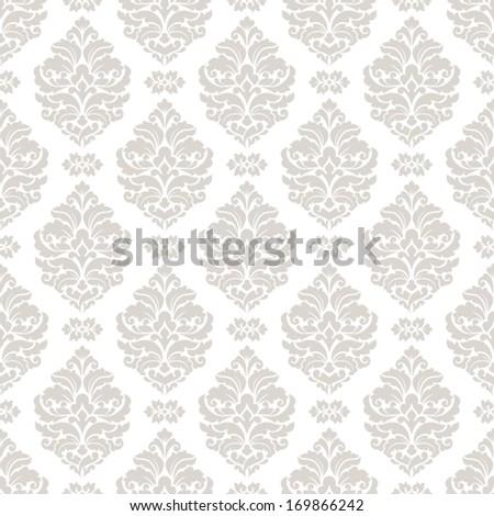 Damask seamless pattern for design. - stock vector
