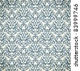 Damask seamless pattern on gradient background. Could be used as repeating wallpaper, textile, wrapping paper, background, etc - stock photo