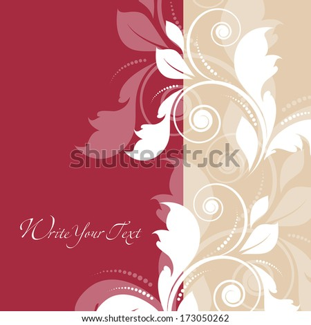 Damask vector style. Perfect for invitations and ornate backgrounds. Wedding card or invitation in abstract damask style. Abstract greeting postcard. Invitation vintage card with floral ornament.