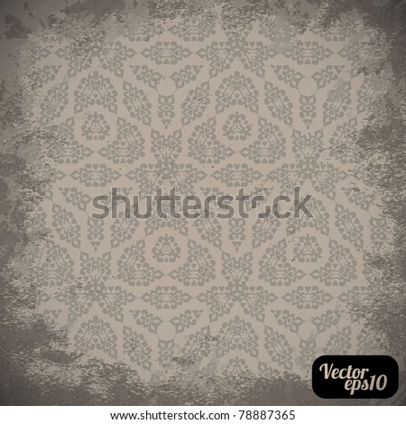 Damask wallpaper (classical ornament) - stock vector