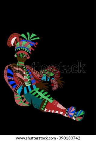 danc people in ethnic style to fit the needs of your project. - stock vector