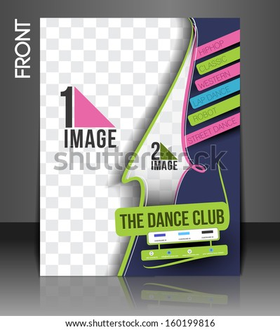 Dance Academy Front Flyer & Poster Cover Template  - stock vector