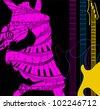 dance and music - stock photo