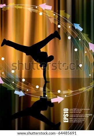 Dance background - stock vector