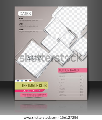Dance Club Back Flyer & Poster Cover Template - stock vector