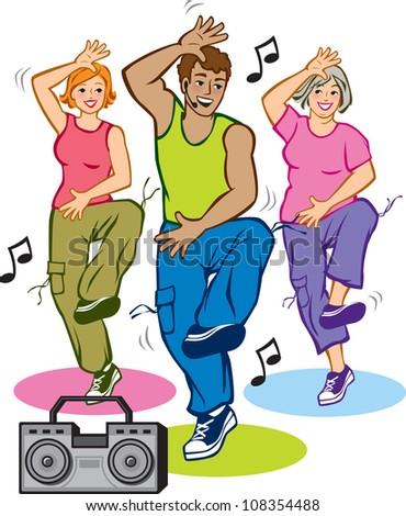 Dance Fitness Program Stock Vector (Royalty Free ...