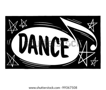 Dance Header - Retro Clipart Illustration