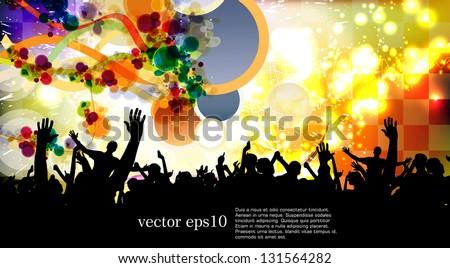 Dance party. Vector - stock vector