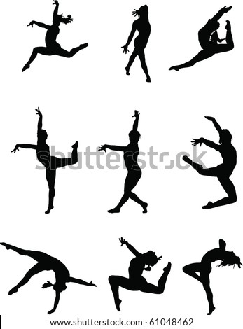 gymnastics silhouette stock images  royalty free images flamenco dancer silhouette vector free vector dance silhouette
