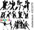 dance vector (clothes detail) - stock vector