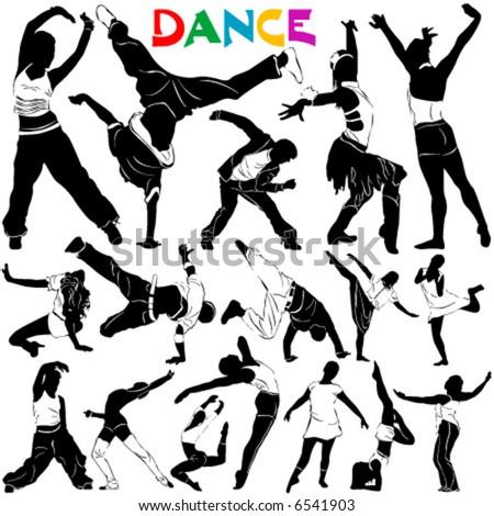 dance vector 2 (clothes detail) - stock vector