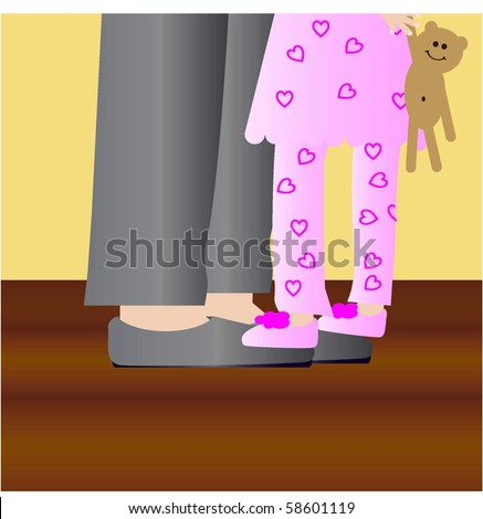 Dance with Daddy vector - stock vector