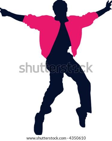 dancer - stock vector