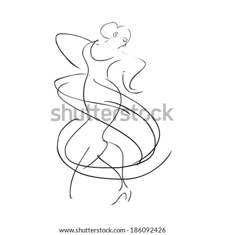 dancer flamenco,vector - stock vector