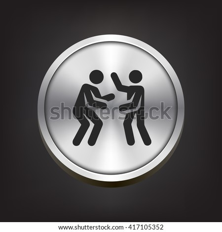 dancers icon. dancers sign - stock vector