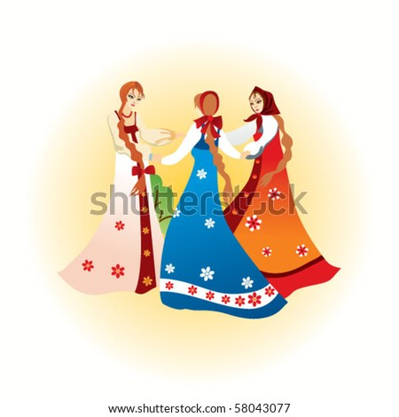 Dancing - stock vector