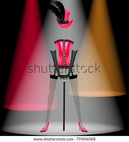 dancing clothes - stock vector