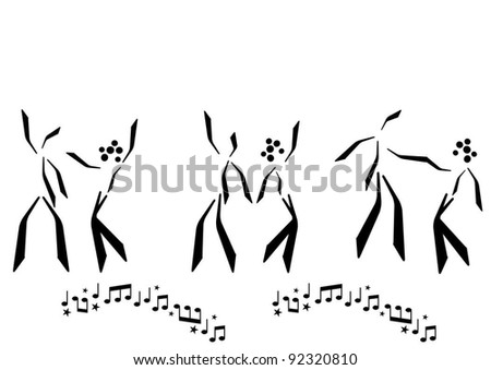 dancing couple abstract silhouette