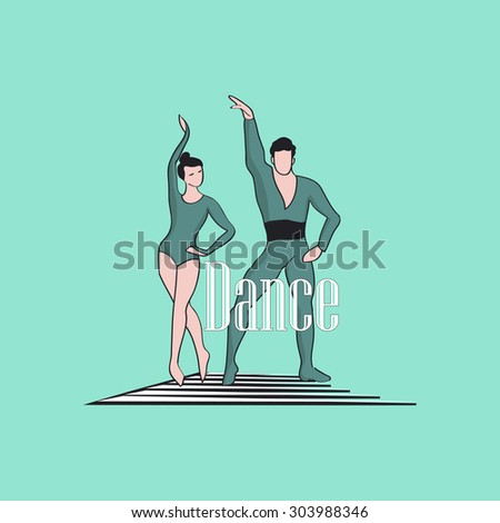 Dancing Logo of classical dancer, excellent vector illustration, EPS 10 - stock vector