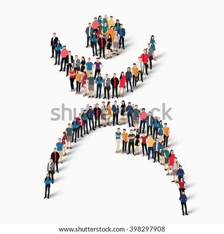 Dancing Man Symbol People Stock Vector 2018 398297908 Shutterstock