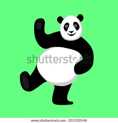 Dancing Panda. Vector illustration.