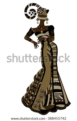 dancing people in ethnic style to fit the needs of your project. - stock vector