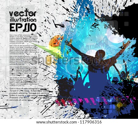 Dancing people. Vector illustration - stock vector