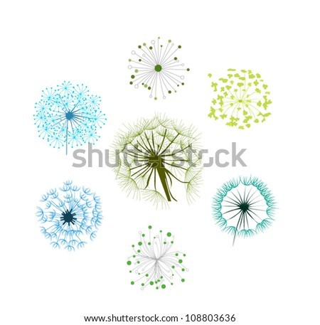 Dandelion Collection - stock vector
