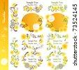 Dandelion design elements. Illustration vector. - stock vector