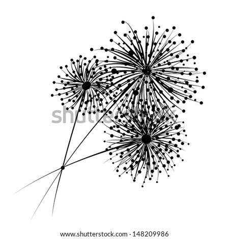Dandelion flowers for your design - stock vector