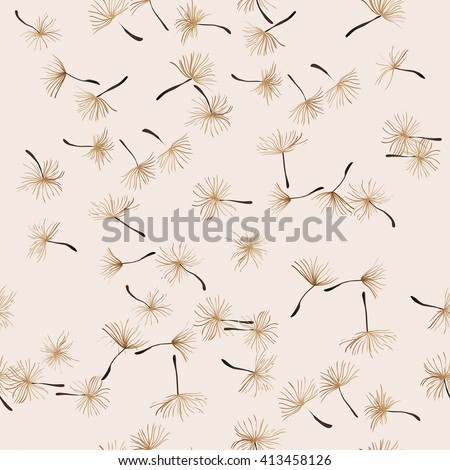 dandelion seeds - stock vector