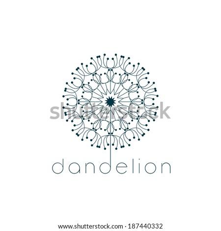 Dandelion symbol - stock vector
