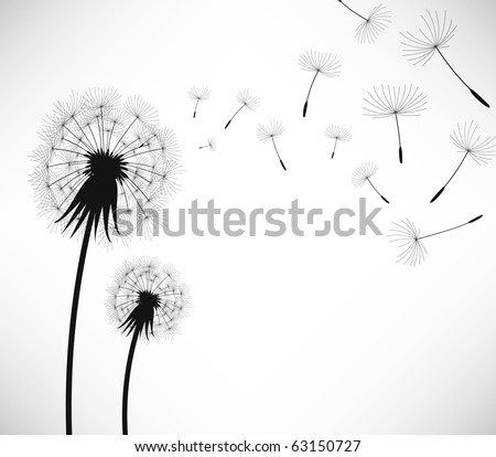 Dandelion Wind Blow Flower - stock vector
