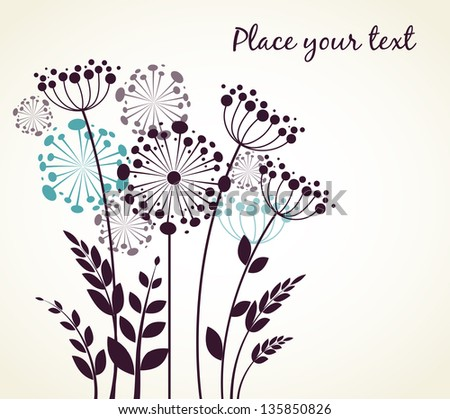Dandelions flowers. Vector illustration - stock vector